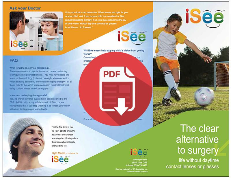 iSee Ortho-K Lens Brochure